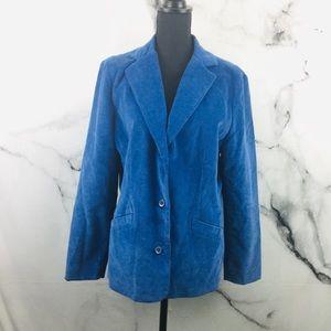 LL Bean Blue Corduroy Blazer